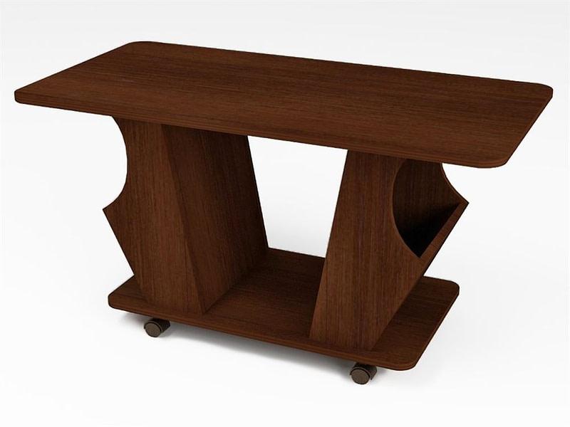 Turime, didelis staliukas su ratukais kavos/žurnalinis Elit 110x58cm | Būsto Pasaulis