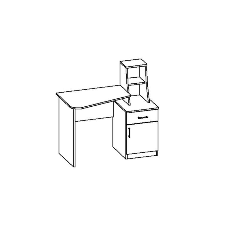 Rašomasis stalas-3 tamsiai rudas wenge   Būsto Pasaulis