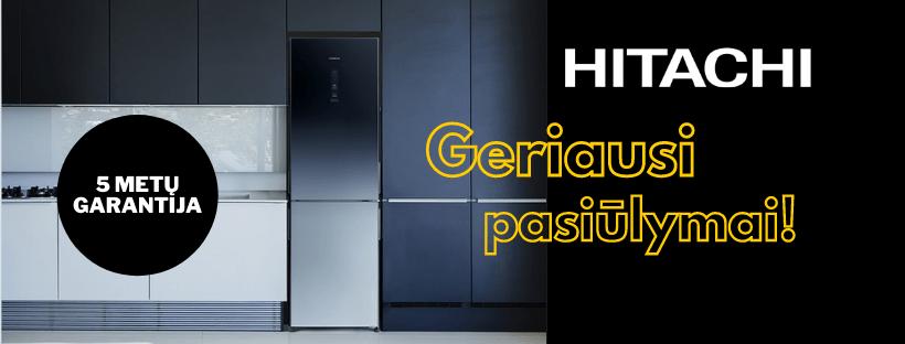 Geriausi Hitachi šaldytuvų pasiūlymai Būsto Pasaulis Elektrėnai